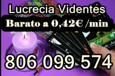 Tarot Barato de Lucrecia. 806 099 574. Económico a 0,42 min.