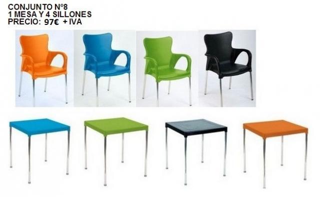 Conjuntos de mesa 4 sillones