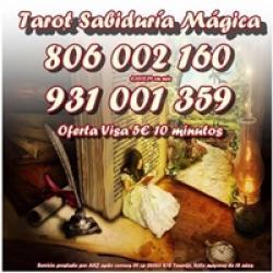 Tarot Sabiduría Mágica. Los mejores videntes por 0,42 cm. Visa of
