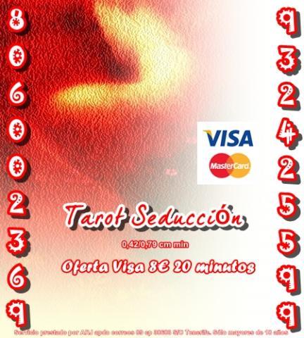 Tarot Seducción Visa 10 30 min. Tarot 806 barato y económico 0,4