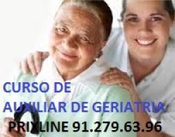 CURSO DE AUXILIAR DE GERIATRÍA con practicas Tel: 912796396