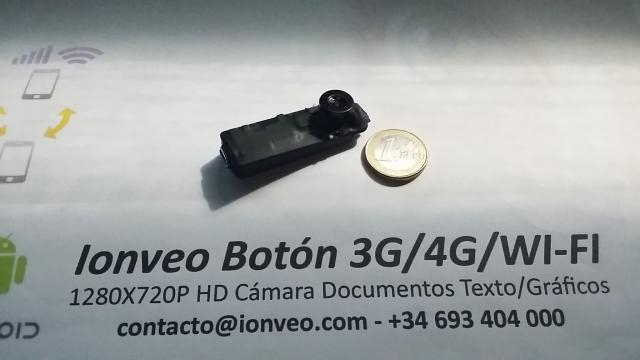 CAMARA HD ESPIA BOTON 3G VIDEO INTERNET VISION REMOTA DOCUMENTOS