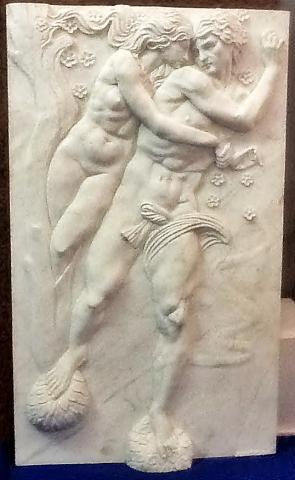 RELIEVE DE mármol escultura griega