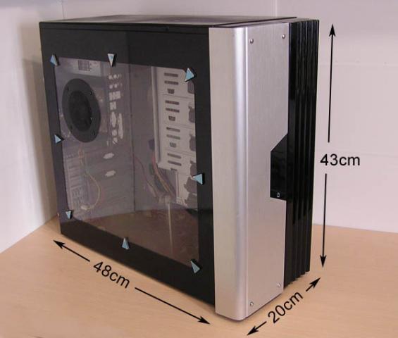Caja torre ordenador PC con fuente de alimentacion de 500 vatios
