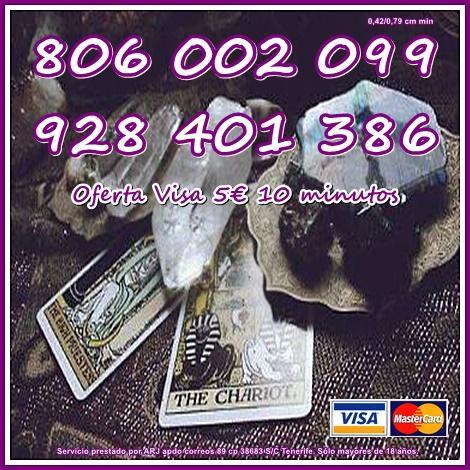 Oferta Visa 5 10 minutos. Tarot barato 806 sólo 0,42 cm min.