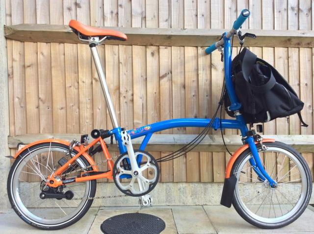 Brompton S6L edicion limitada Barcelona bicicleta plegable