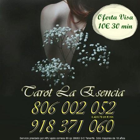 Tarot La Esencia oferta 8 20 min por visa. Tarot barato 806 sól