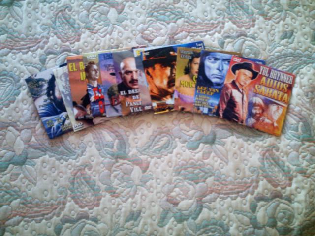 VENDO LOTE DVD 11 PELICULAS DEL OESTE. ENVIO RELACION.