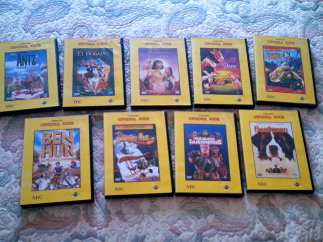 VENDO LOTE CINEMA KIDS ABC EN DVD 9 PELICULAS INFANTILES.