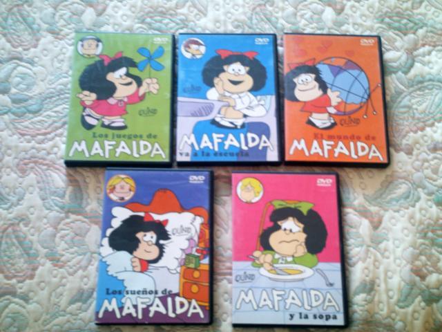 VENDO LOTE 5 PELICULAS DVD MAFALDA (COLECCIÓN COMPLETA).