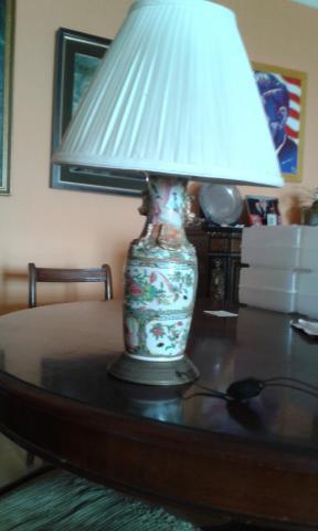 antigua lampara de porcelana china de canton