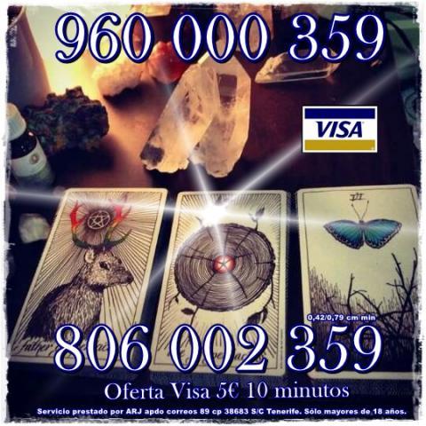 Tarot, astrología y videncia 0,42 cm min. Visa desde 5 10 min.