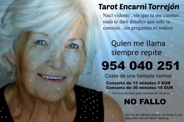 tarot sincero Encarni Torrejón visa 15 min 5 euros.