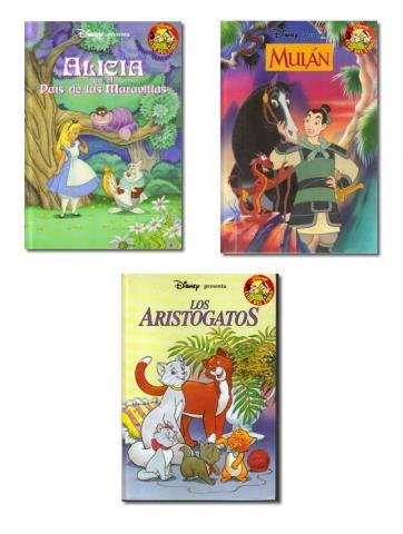 Cuentos Disney (Salvat). Lote 3 ejemplares