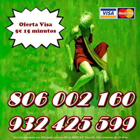 Tarot Oferta Visa 5 15 min. Línea 806 por sólo 0,42 cm.
