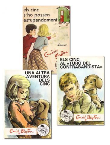 Lote 3 libros Els Cinc de Enid Blyton (Editorial Joventut)