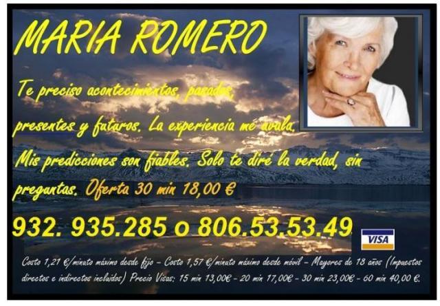 VIDENTE, SENSITIVA, MARIA ROMERO 806 405 911
