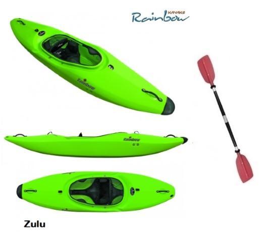 KAYAK RAINBOW ZULU AGUAS BRAVAS OLAS SURF DE MAR