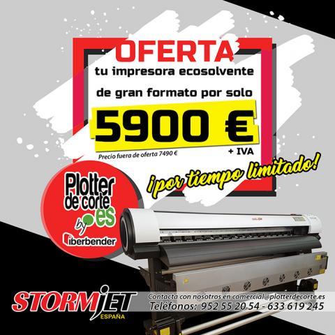 OPORTUNIDAD Nueva impresora ecosolvente gran tamaño StormJet SJ