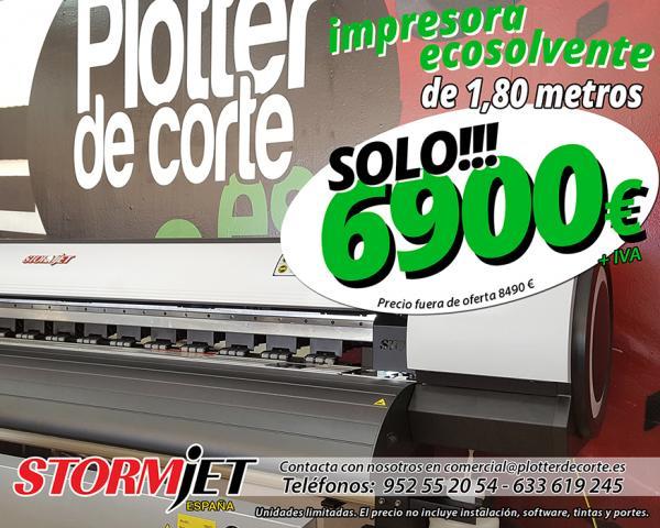 Impresora ecosolvente de 180 cm StormJet SJ7180TS calidad profesi