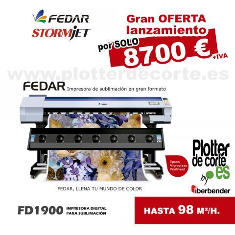 Plotter de impresion por sublimacion 190cm Fedar FD1900