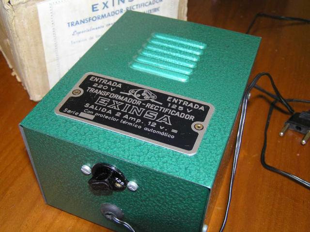 TRANSFORMADOR RECTIFICADOR EXINSA EXIN SCALEXTRIC 125 220 Volt.