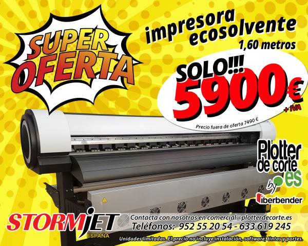Impresora ecosolvente StormJet de 1.60m