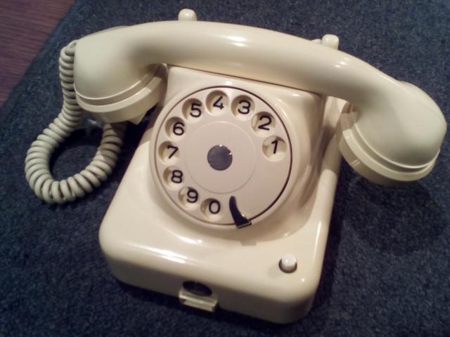 Precioso telèfono antiguo de baquelita marfil