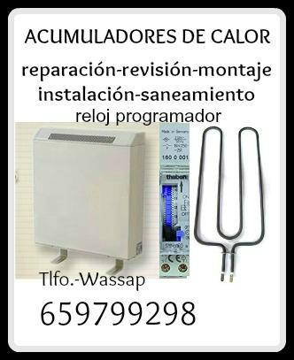 Acumulador de Calor-Reloj Tarifa-Averías-Madrid