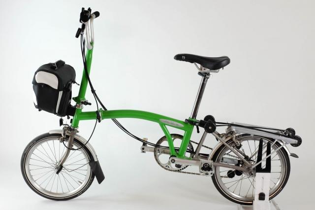 Brompton M6R Titanio con Bolsa plegable bicicleta híbrido