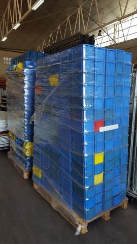 Gavetas de plástico apilables