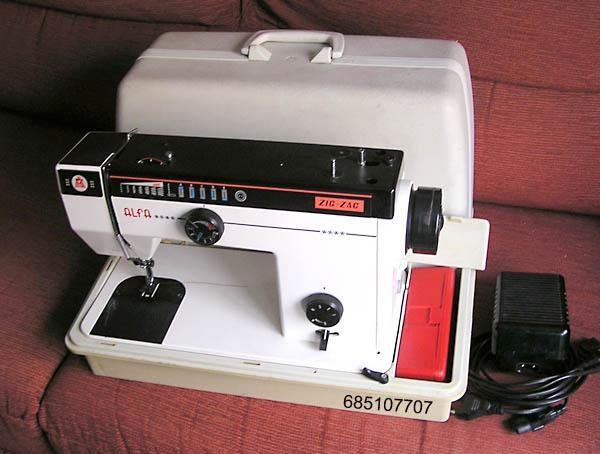 Maquina de coser Alfa zic zac con maleta para transportar