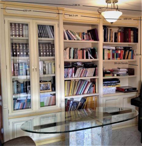 Mueble libreria lacado en blanco
