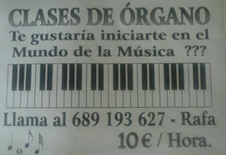 Clases de Teclado y Órgano.