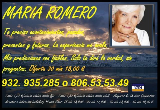Maria Romero Vidente Parapsicologa 806535349. Tarot acierto ya