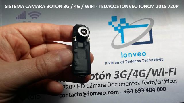 CAMARA VIDEO OCULTA BOTON 3G 4G WIFI TRANSMISION INTERNET EXAMEN