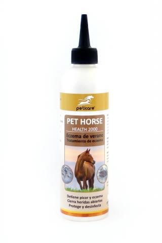 Cuidado del caballo con eczema de verano