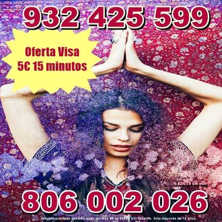 Oferta Tarot por Visa desde 5 euros 15 min. Tarot 806 barato.