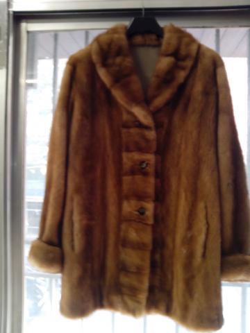 abrigo de vison reversible