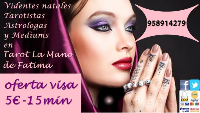 TAROT MUY BARATO POR VISA 5 15MIN. LA MANO DE FATIMA, 958914279
