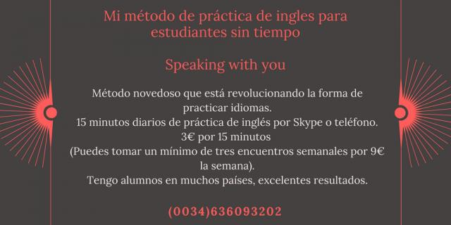 Mi método de práctica de ingles para estudiantes sin tiempo
