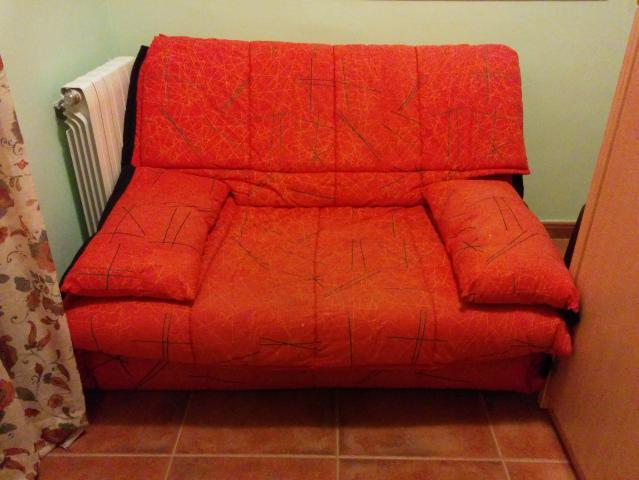 Sofa cama 120cm con colchon y funda edredon