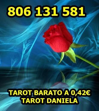 Tarot Barato de Daniela. 806 131 581. Económico a 0,42 min.