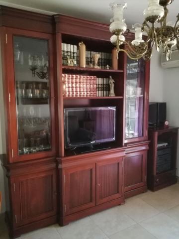 Mueble librería madera de caoba