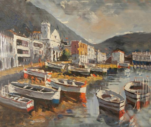 lote de cuadros pintados sobre lienzo al óleo