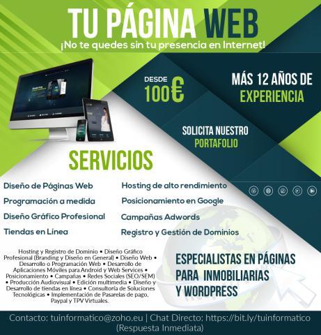 Profesional independiente (Freelance) Webmaster