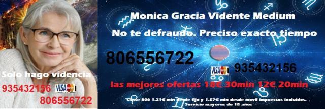 Vidente Monica Gracia, sin preguntas. La verdad sin engaño. Tarot