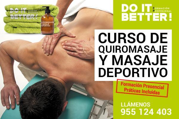 Curso de Quiromasaje y Masaje Deportivo