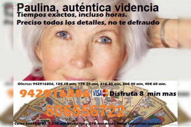 Vidente Paulina, sin preguntas. 20 min 13 . Tarot de amor barato