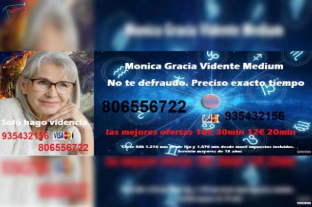 Vidente Mónica Gracia, especilista en amor. Videncia 806 556 722